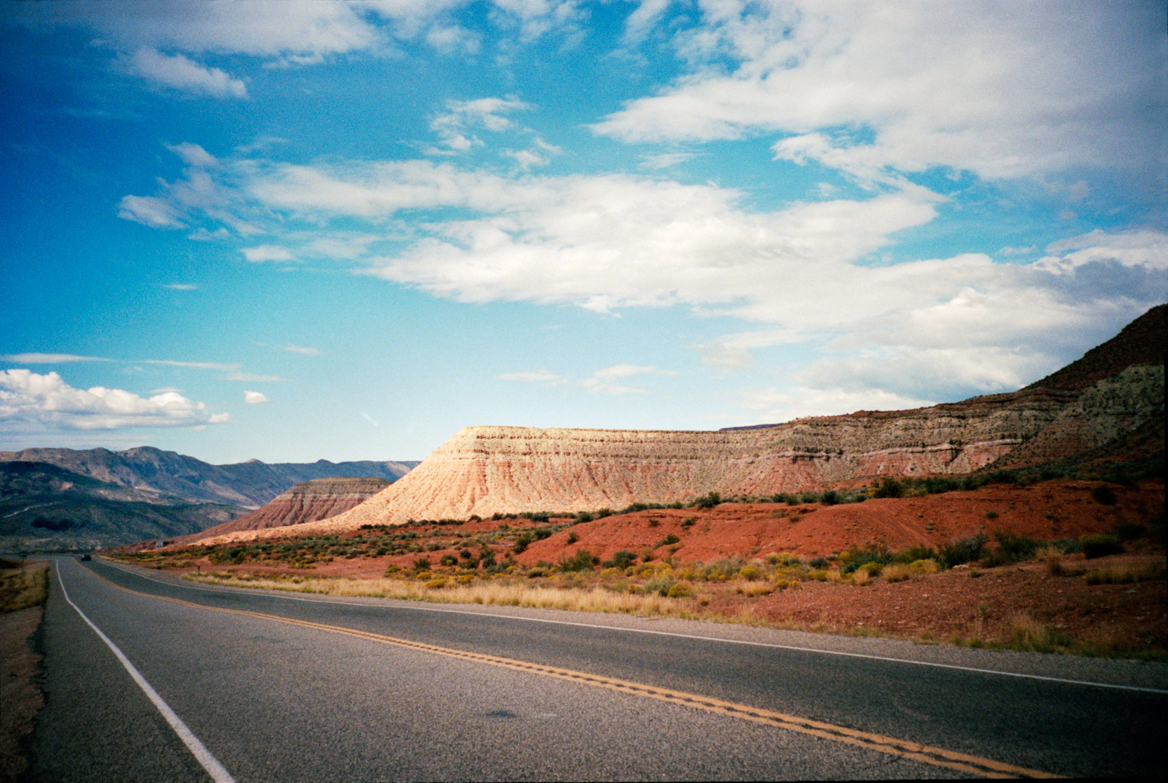 view on the road to Zion National Park