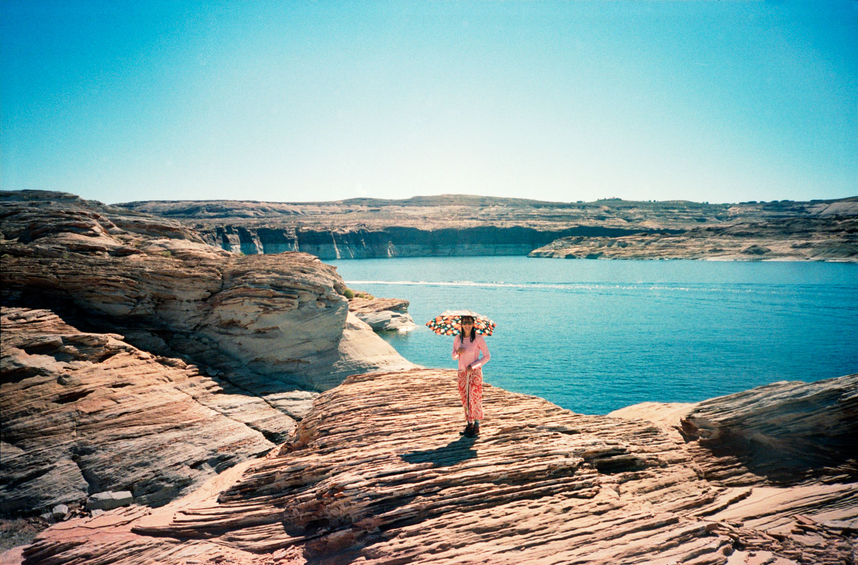 view looking out over Lake Powell