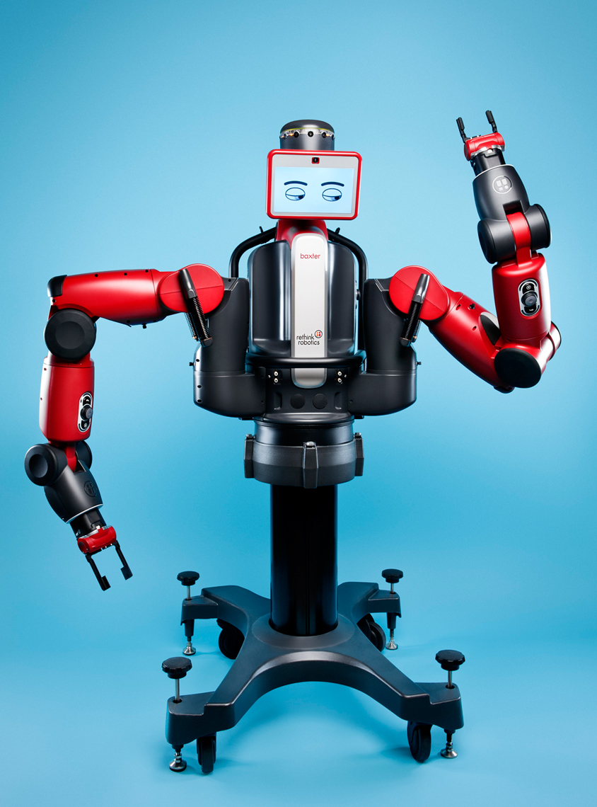 Baxter The Robot, Rethink Robotics for Boston Magazine, Webb Chappell Photography