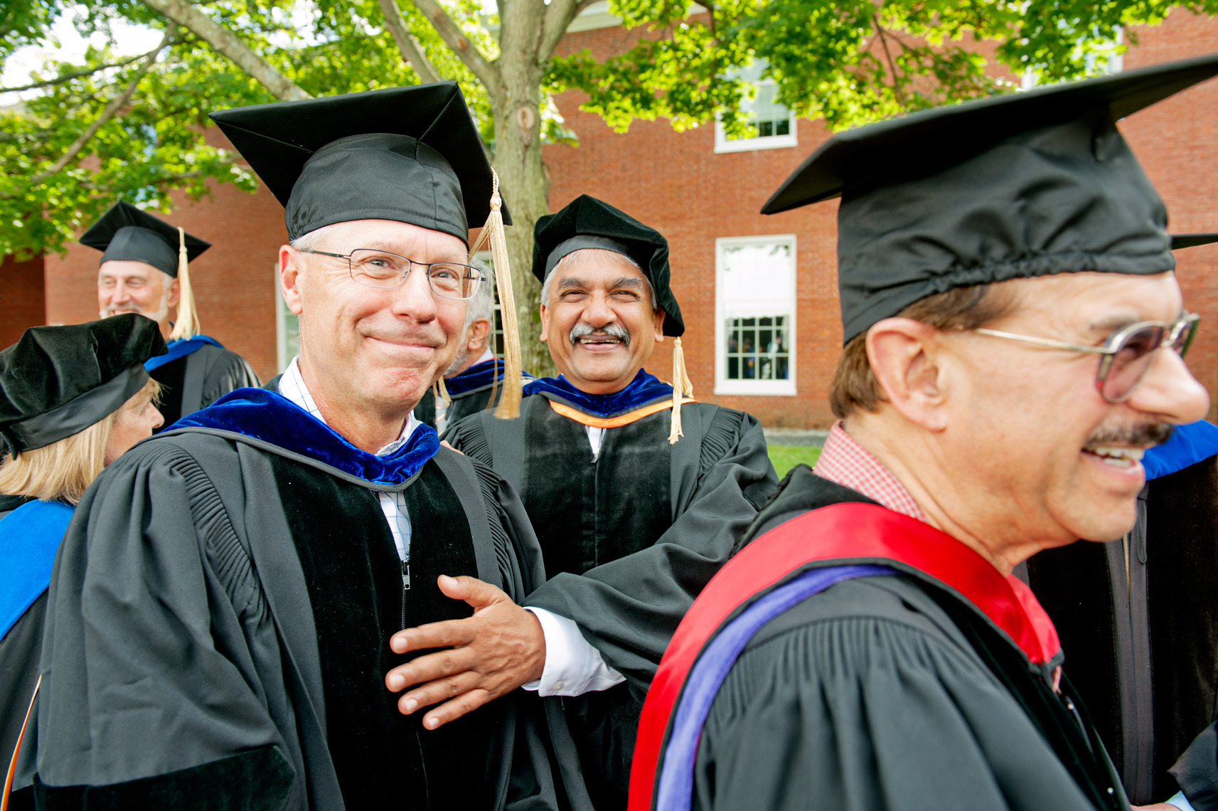 Bentley College Graduation, on campus photography
