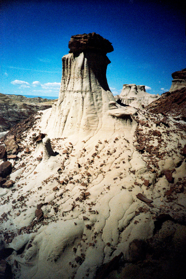 hoodoo in the Bisti De-Na-Zin Wilderness New Mexico Navaho Reservation