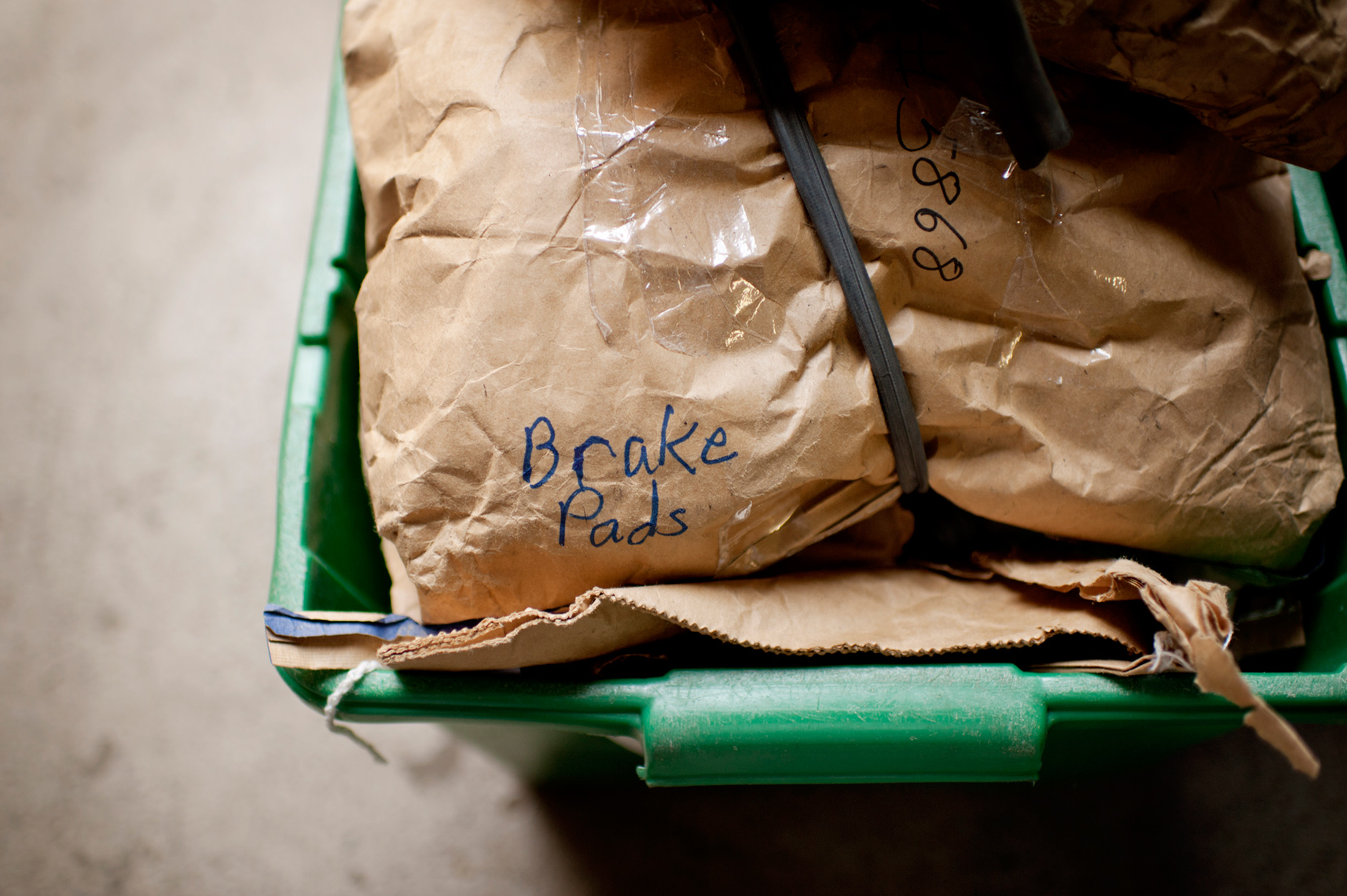donated brake pads headed to third world countries for use on bikes to transform communities