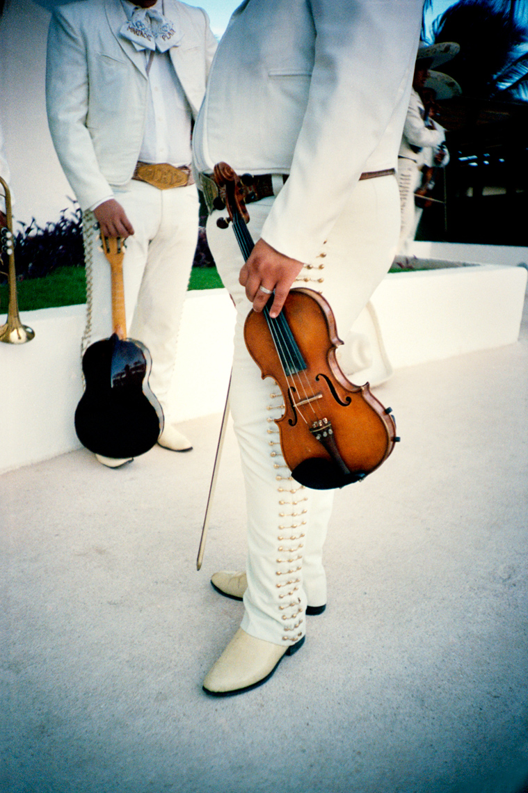 photograph of violin from mariachi band Cancun Mexico