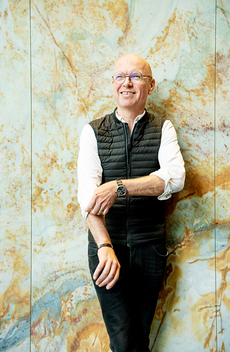 portrait of Cengage CEO Michael Hansen for Cengage website