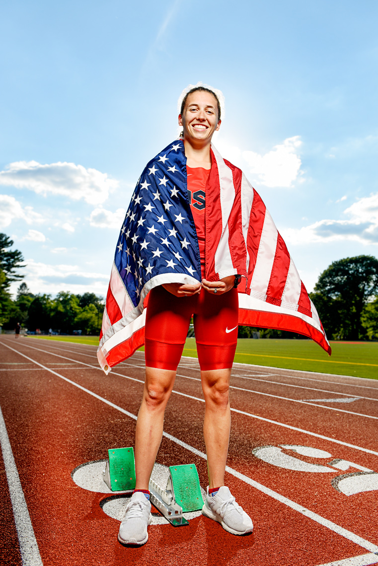 portrait Carly Muscaro NCAA Athlete of the Year Merrimack College
