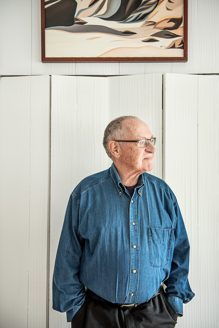Alan Dershowitz at his home on Martha