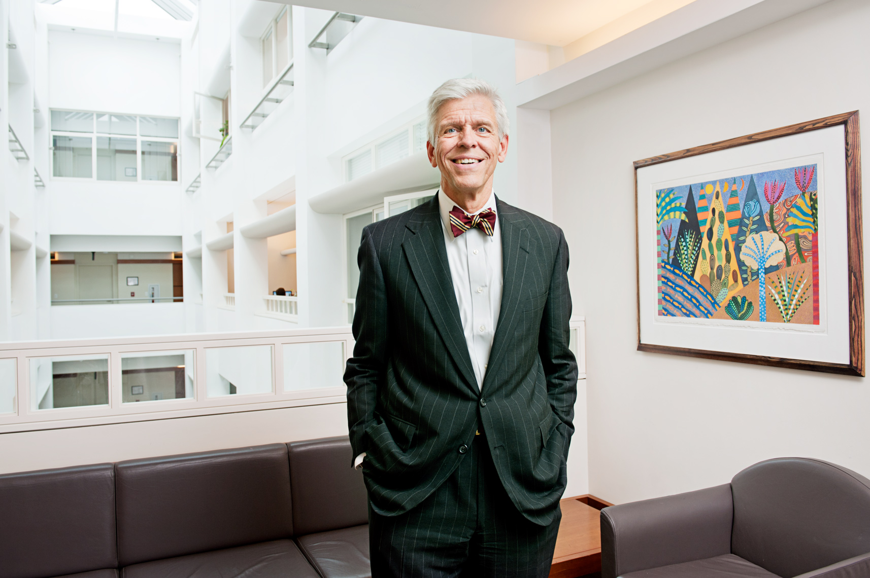 portrait of Harvard Business School Professor Thomas DeLong for the Harvard Business School Bulletin