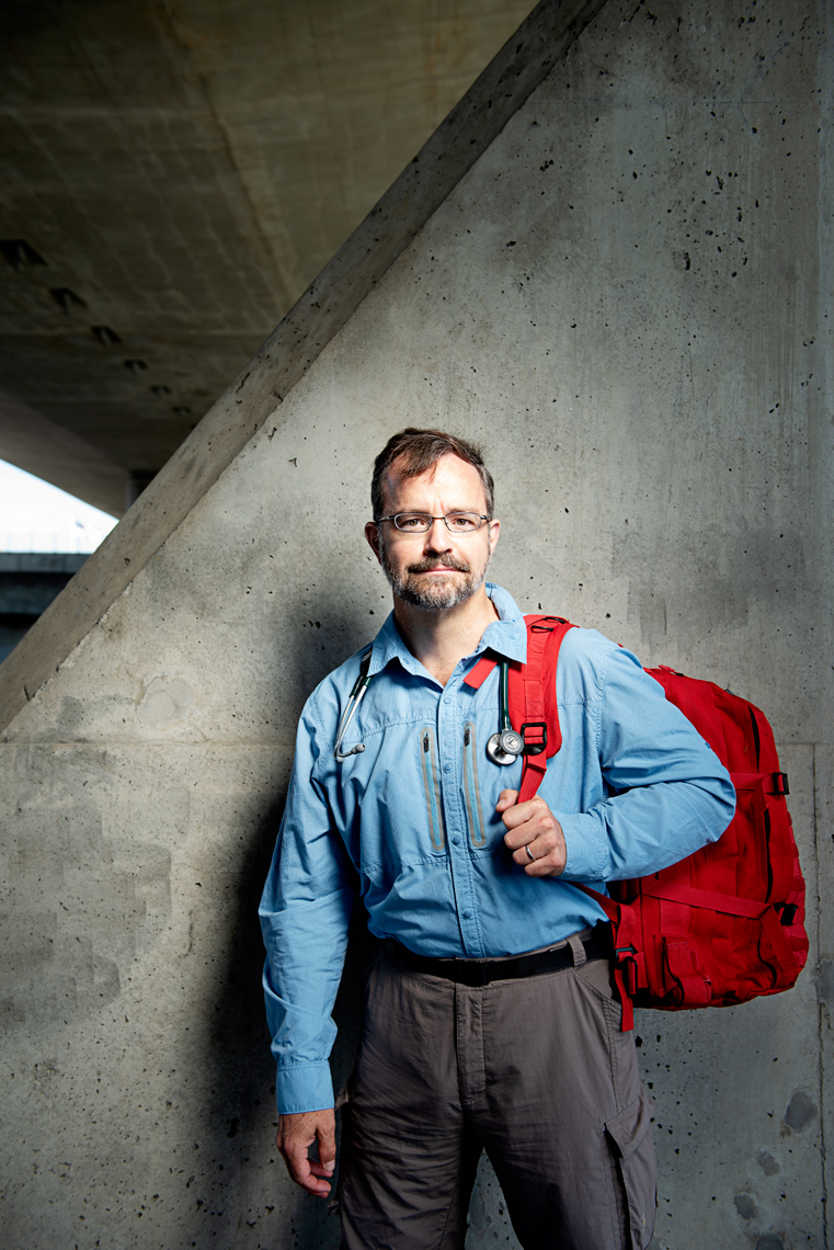 portrait Dr. Stuart Harris for Orion Magazine story on wilderness medicine