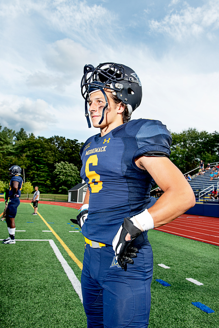 Merrimack College playing Division One football