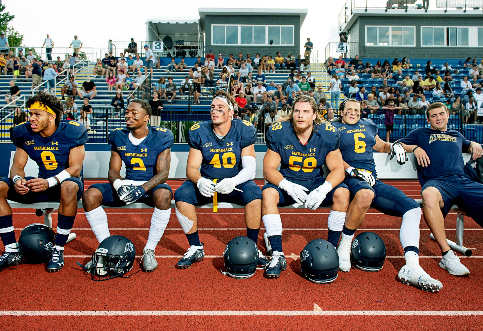 Division One football at Merrimack College in North Andover Massachusetts