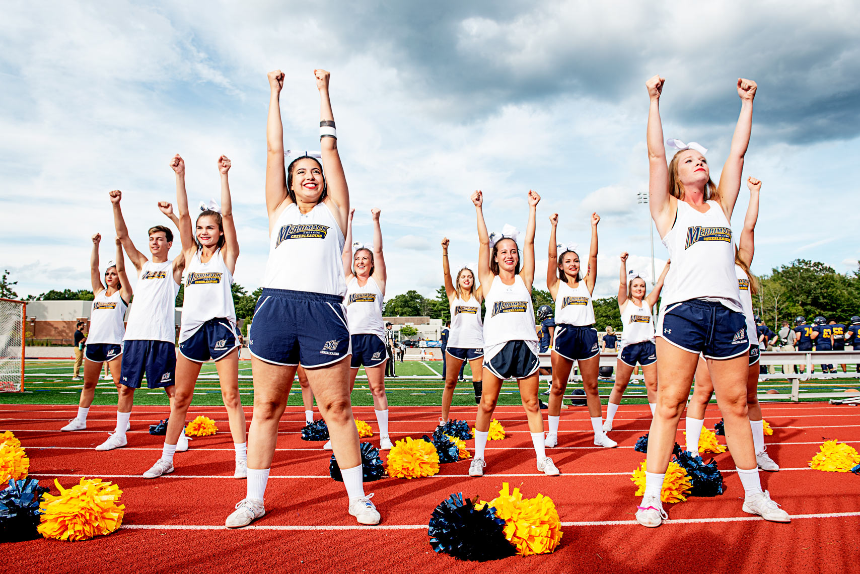organized college cheerleading at Merrimack College