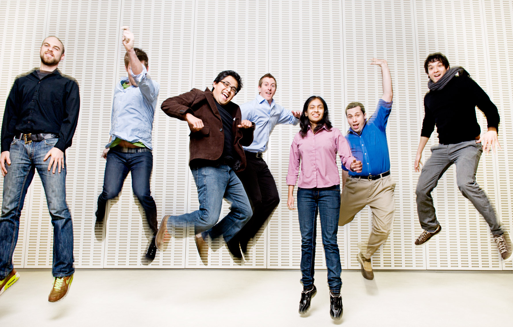 photograph of graduate team at the MIT Media Lab Cambridge MA