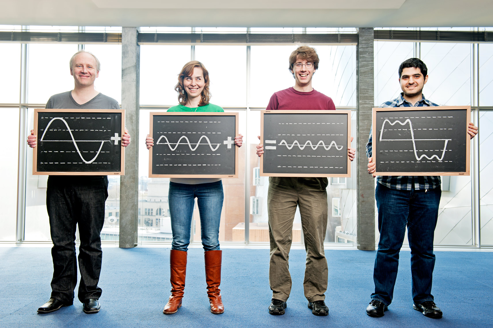 portrait of the MIT scientists behind the Fourier Transform for Technology Review