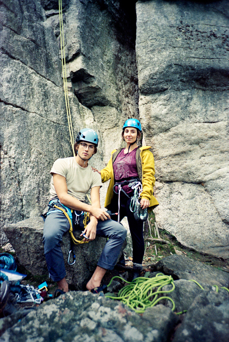 climbers sport climbing The Nears in the Gunks New Paltz NY