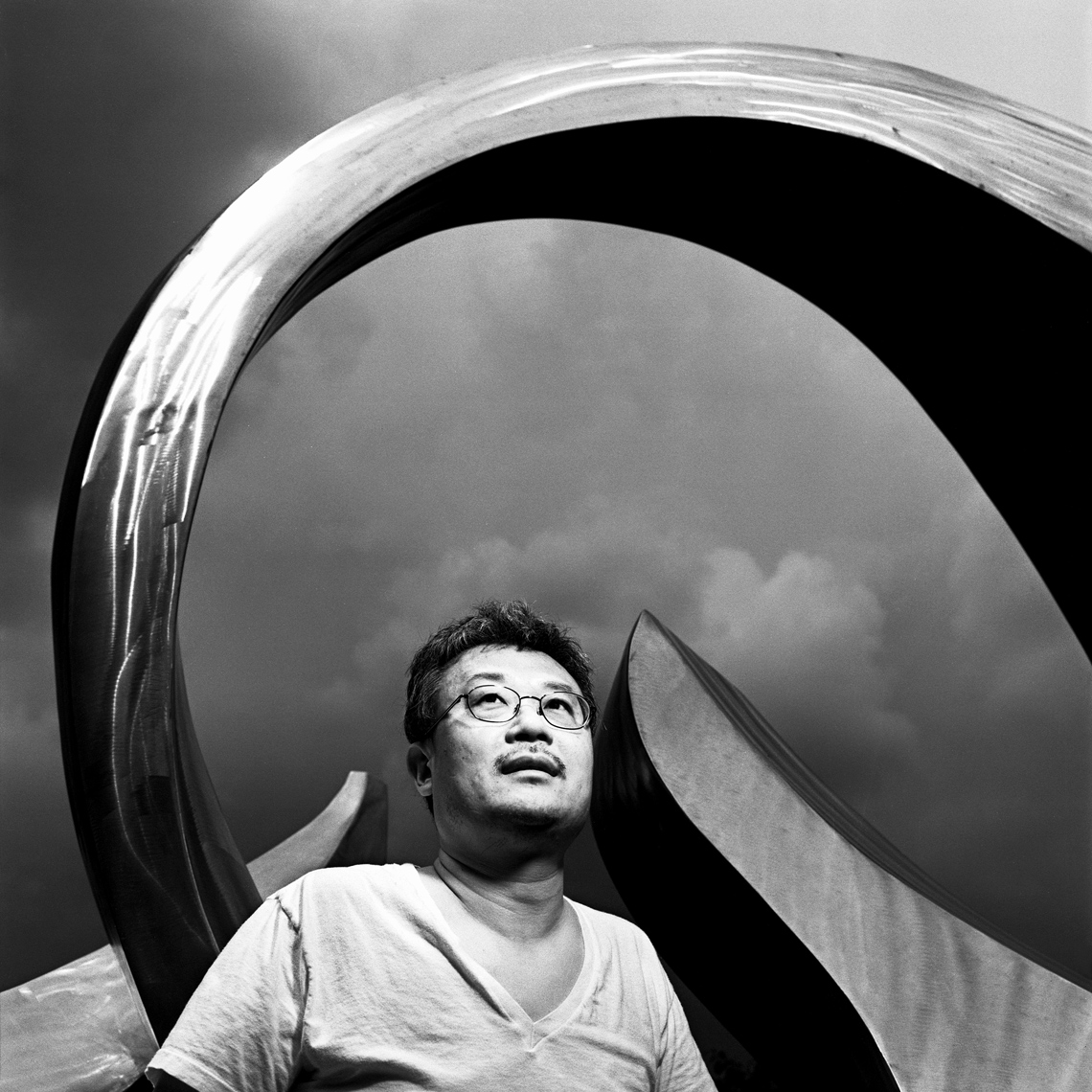 Chinese-American poet Ha Jin for Poets & Writers Magazine photographed at Boston University