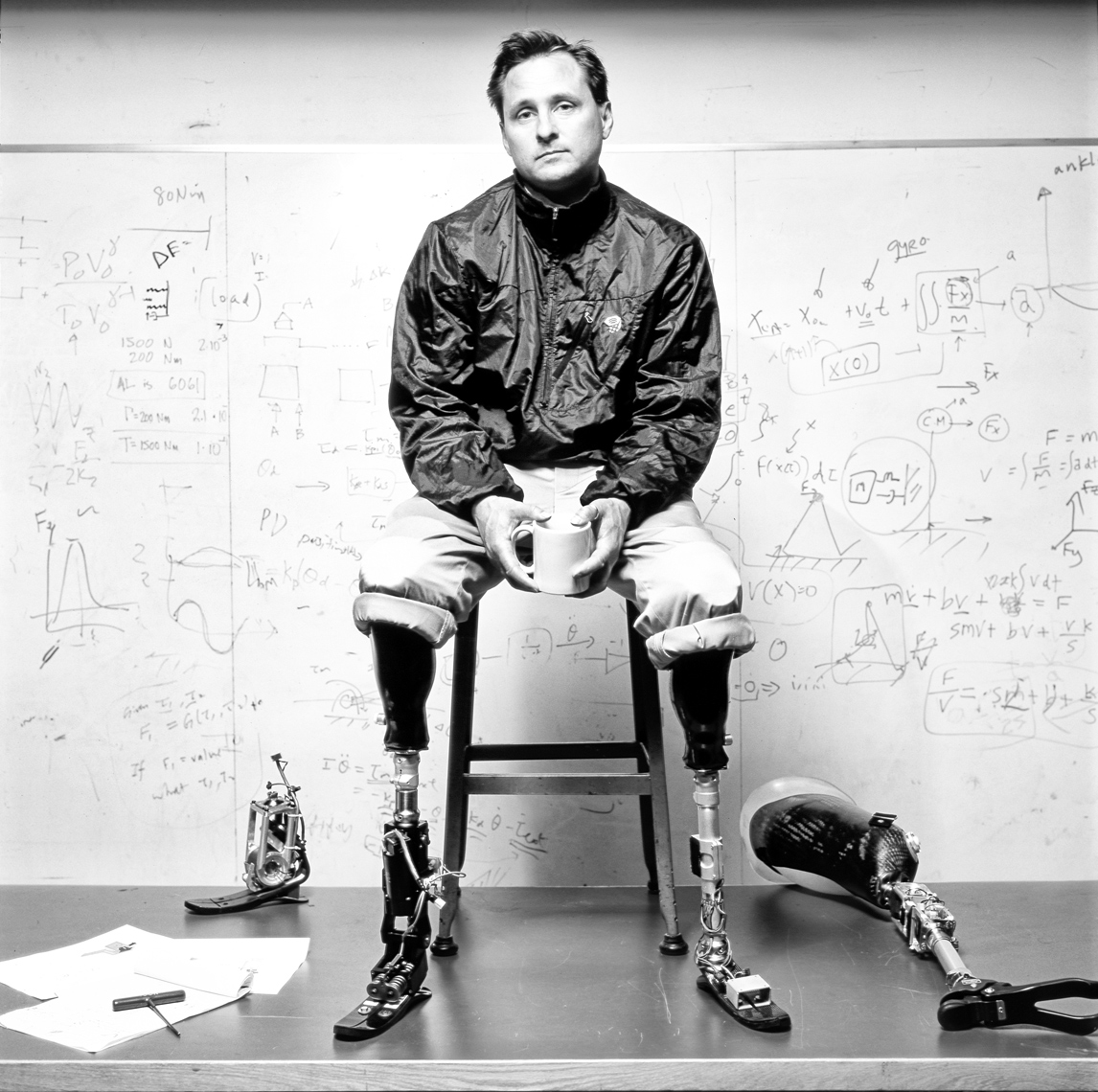 portrait of Hugh Herr MIT Media Lab FOR Extreme Bionics