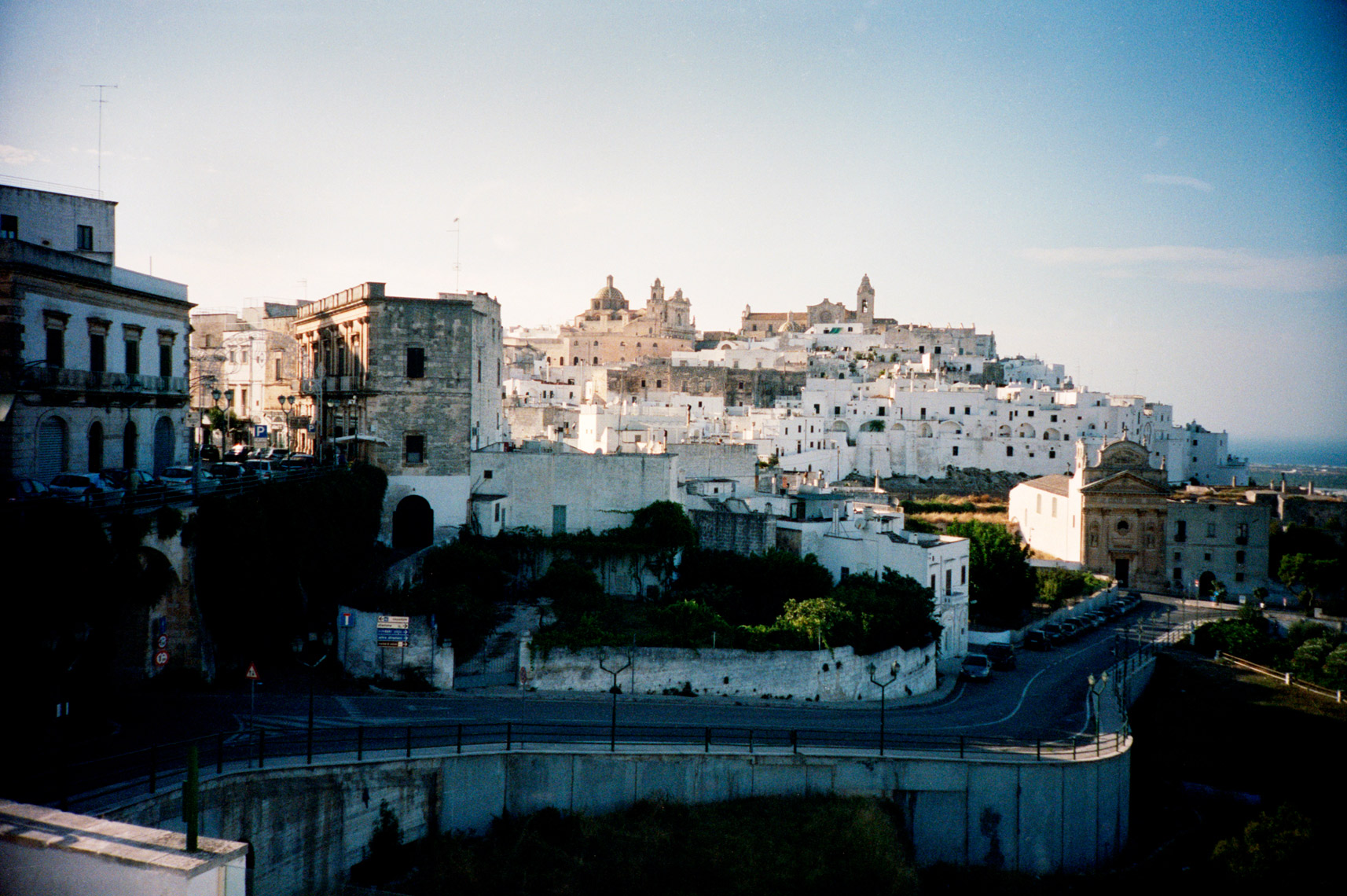 Ostuni The White City at dawn in Puglia  Italy