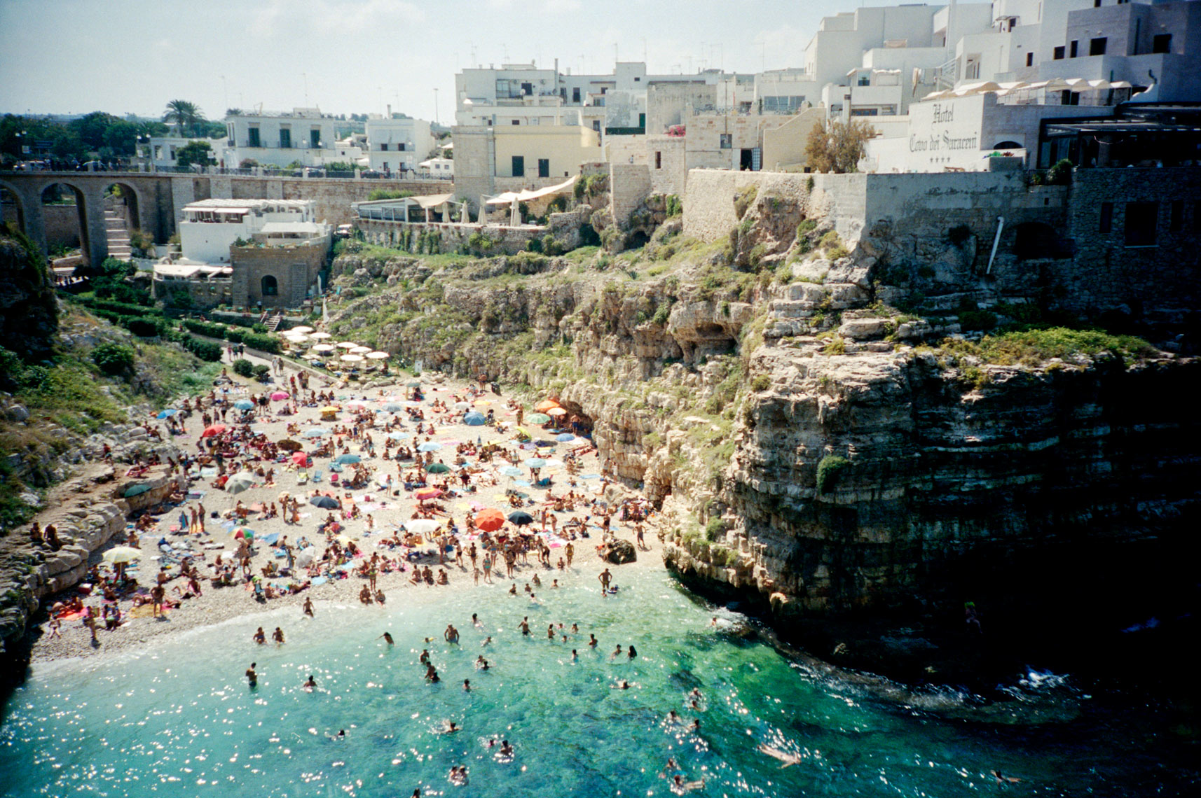 swimming in Adriatic Sea off Polignano a Mare Apulia