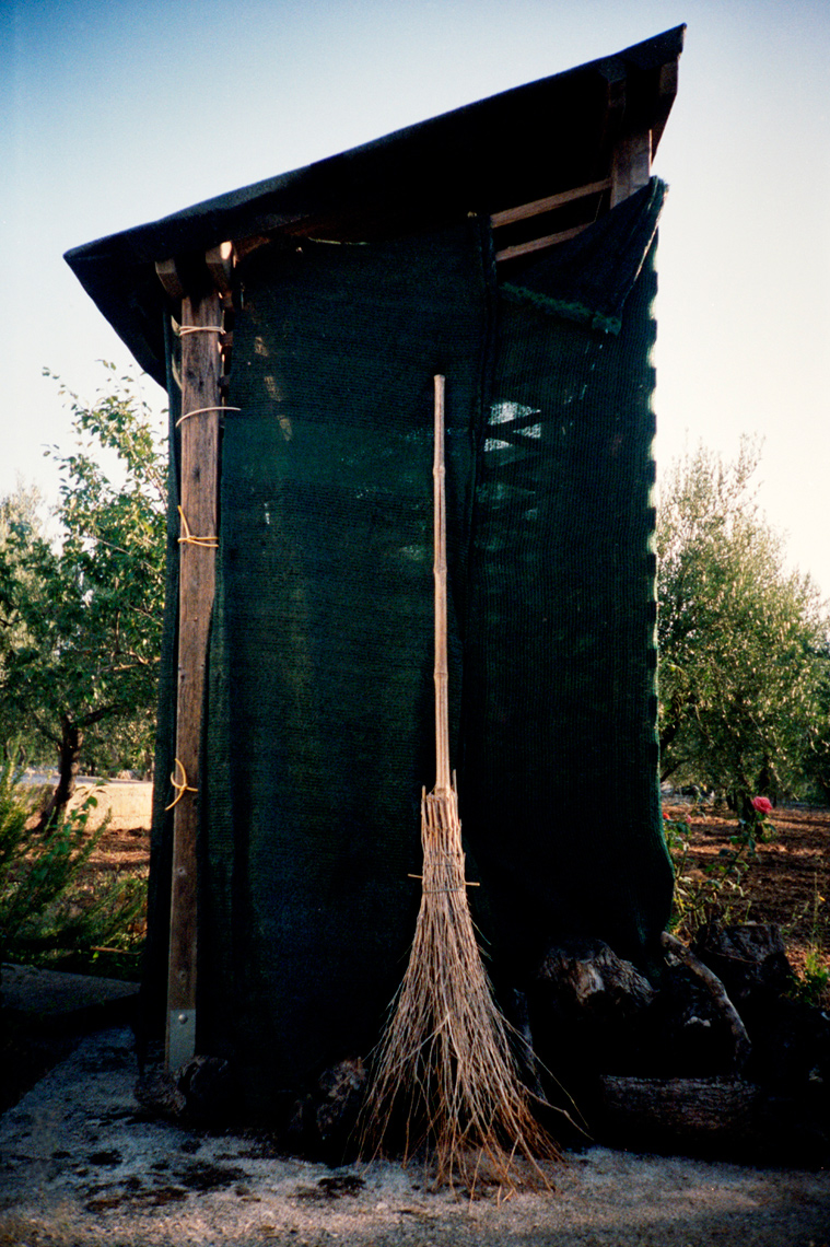 shed with handmade broom, Trullo, Puglia, Webb Chappell travel photography