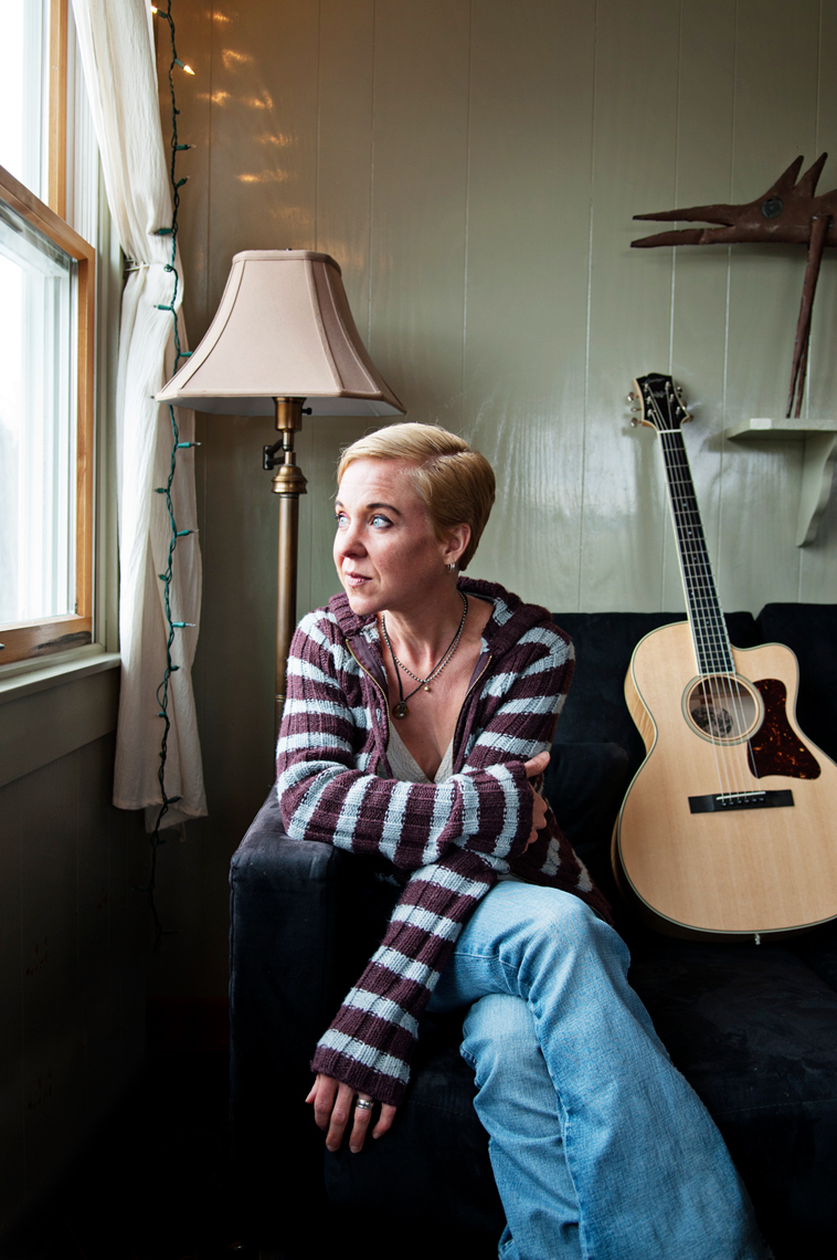 photography of Throwing Muses Kristin Hersh for Boston Globe Magazine