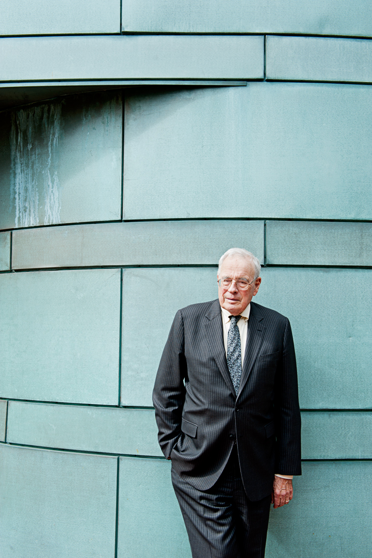 portrait of Professor Warren McFarlan of Harvard Business School for HBS Bulletin