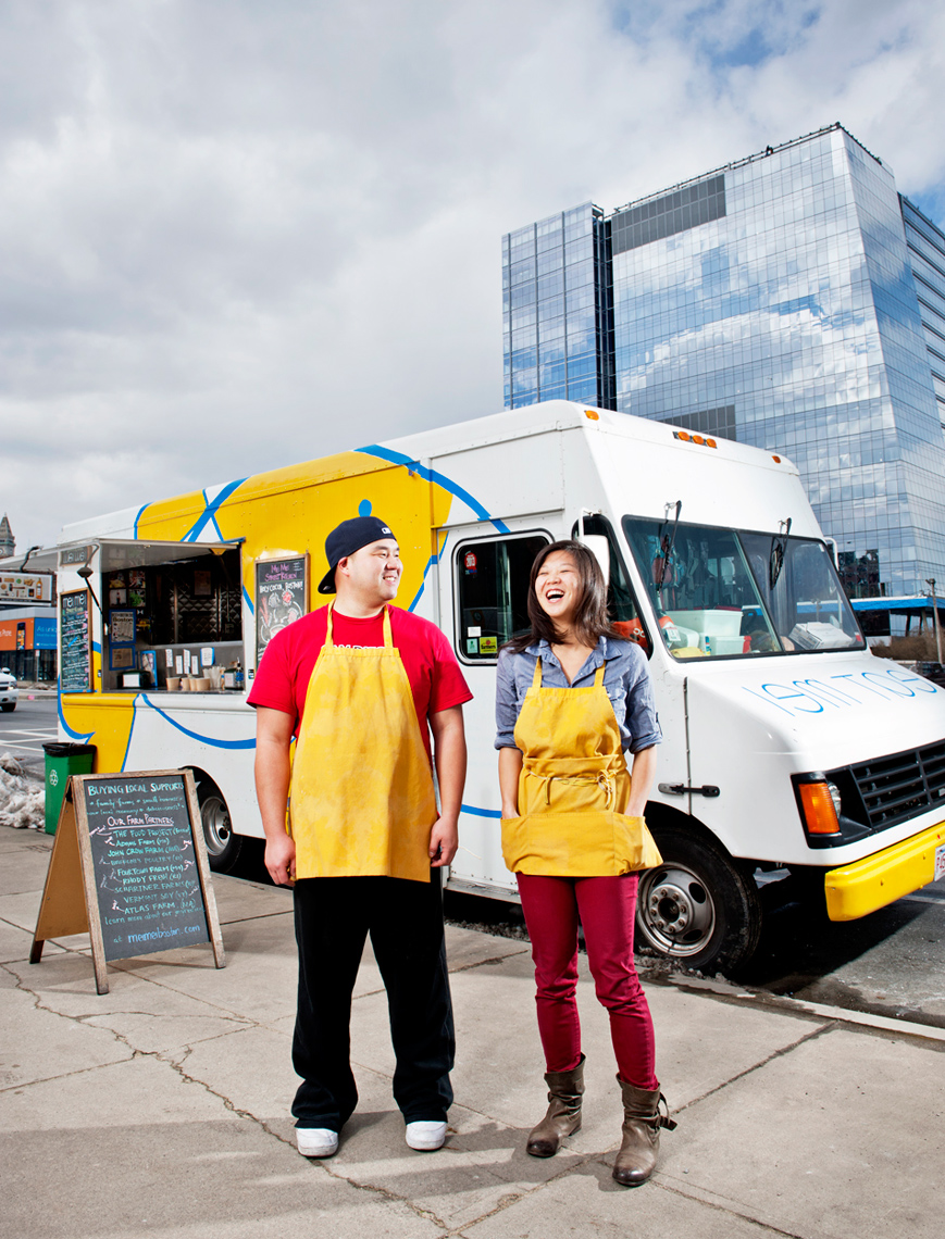 Mei Mei food truck for cover Boston Globe Sunday Magazine by Webb Chappell Photography