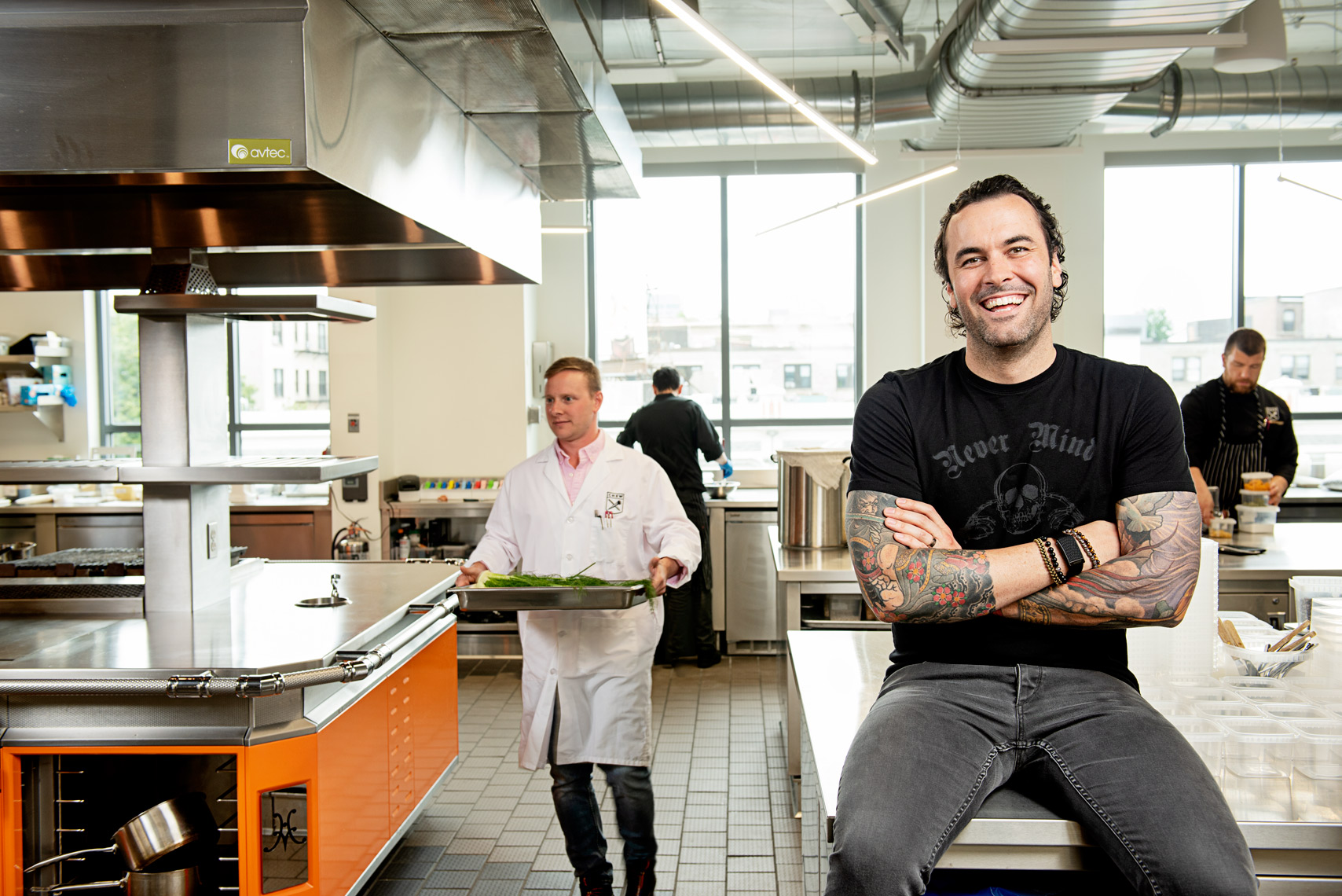 chef Adam Melonas of CHEW Innovation for the Boston Globe Magazine