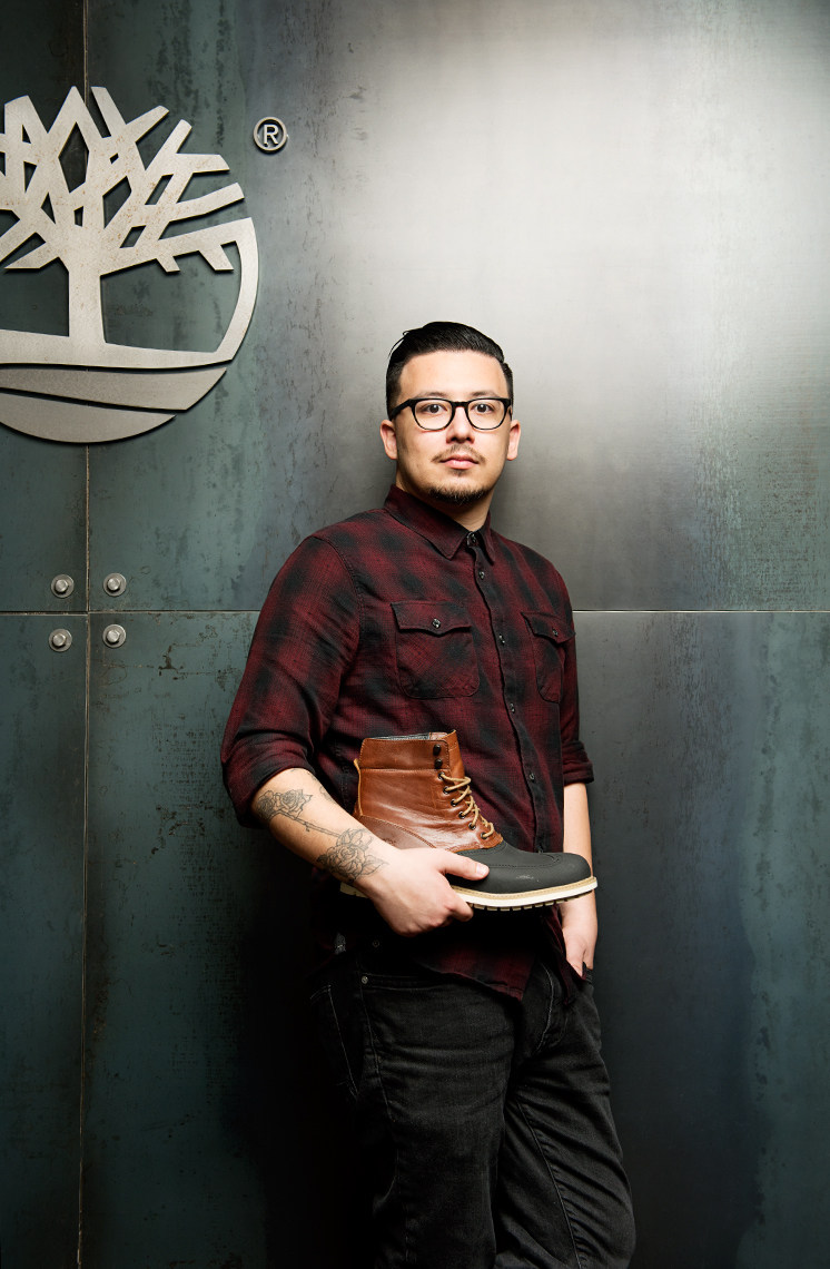 photograph of Nick Dunleavy Timberland designer for Wentworth Institute of Technology