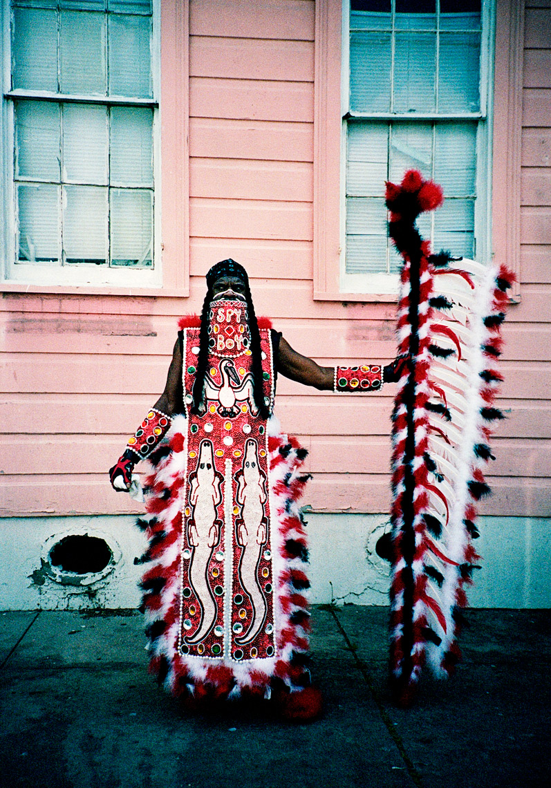 street photography of Creole Wild West Super Sunday Mardi Gras in NOLA