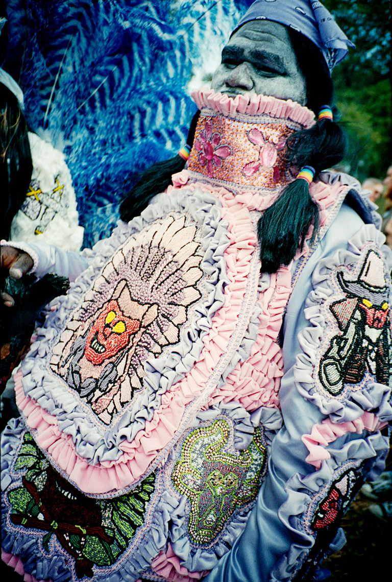 "dickie of the ""Big Chief"" Mardi Gras Indian Super Sunday Parade"