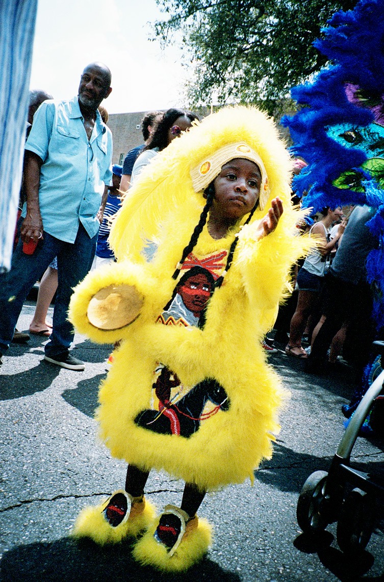 Webb Chappell portrait of Big Chief Super Sunday Mardi Gras Indian Parade
