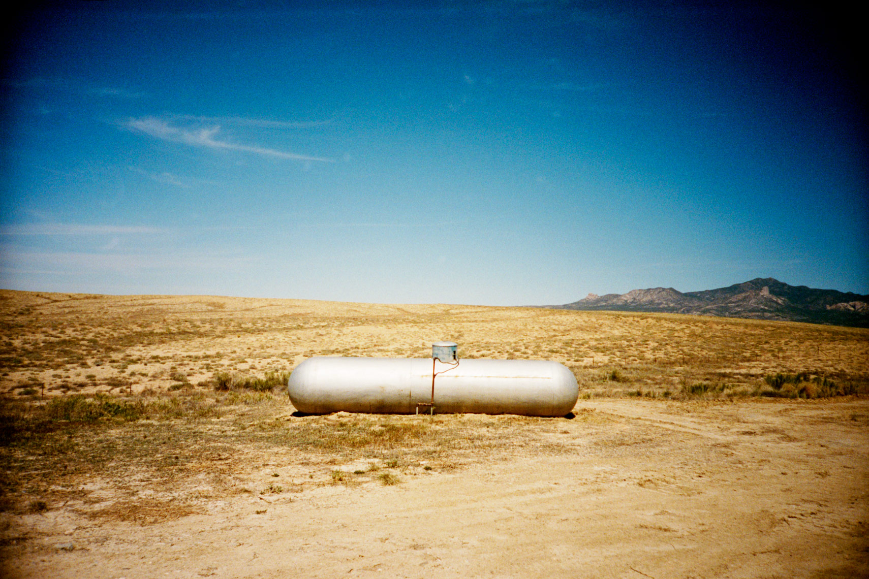 propane tank on the road to Blanding Utah