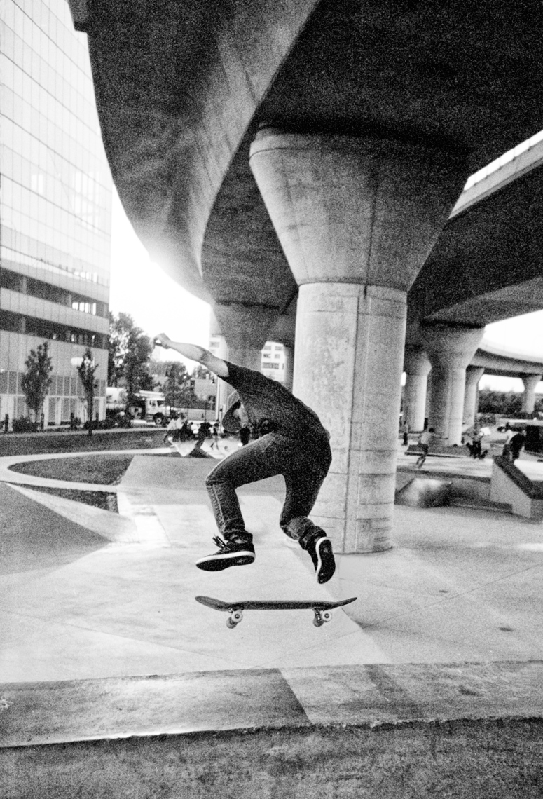 Lynch Family Skate Park underneath the Zakim Bridge Boston MA