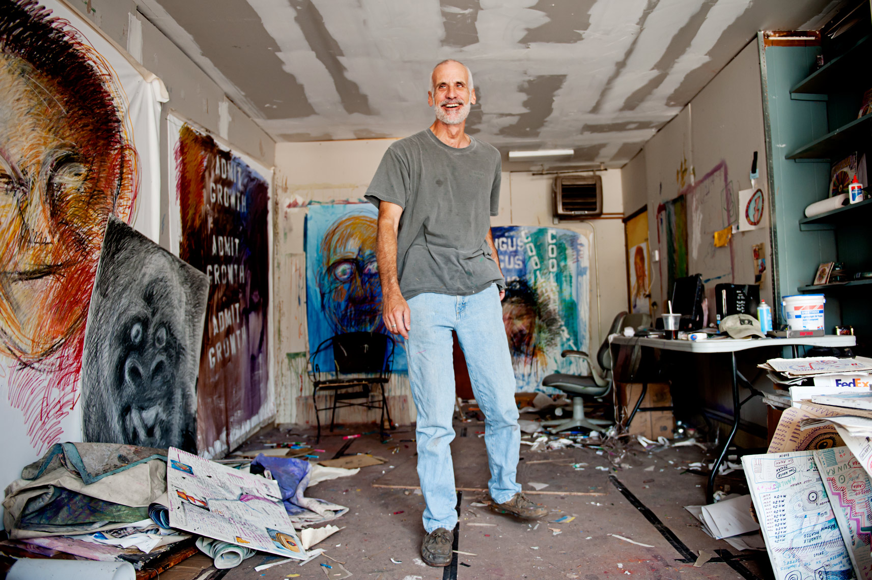 painter Jon Sarkin for The Guardian, Webb Chappell reportage photography