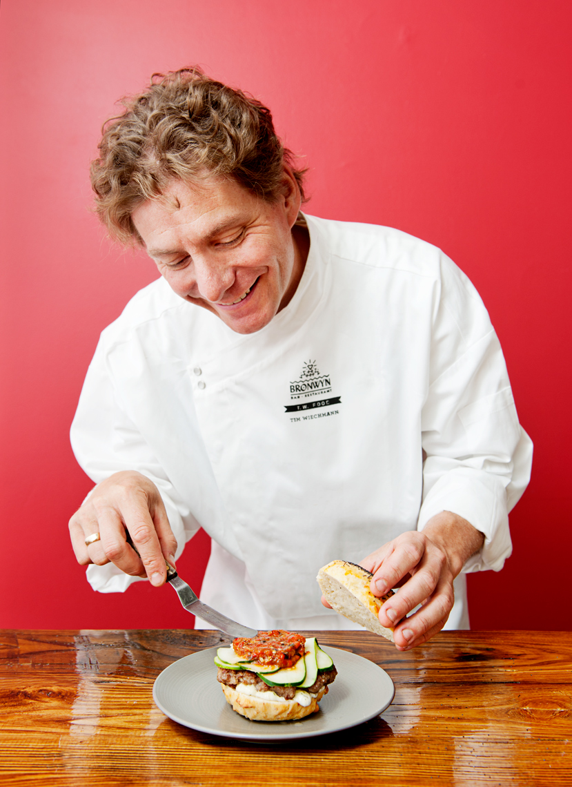 portrait of chef Tim Wiechmann Bronwyn for Boston Magazine