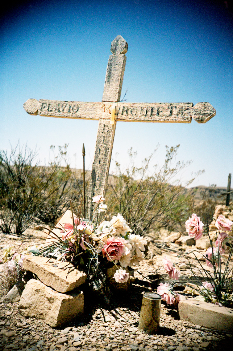 gravesite in the host town of Terlingua Texas