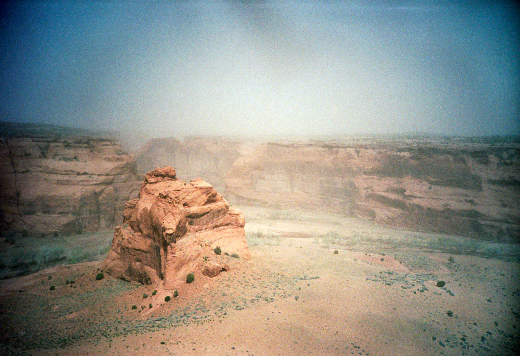 sand storm on Navaho Reservation near Canyon de Chelly Colorado Plateau