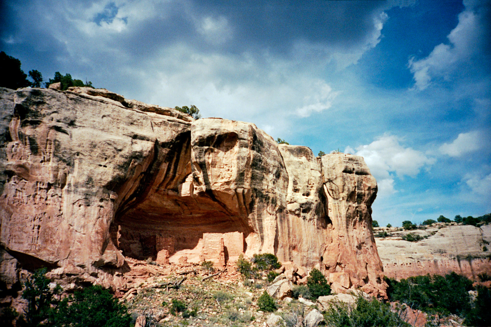 ruins of ancient Native Americans on the Sand Canyon Trail in Canyon of The Ancients