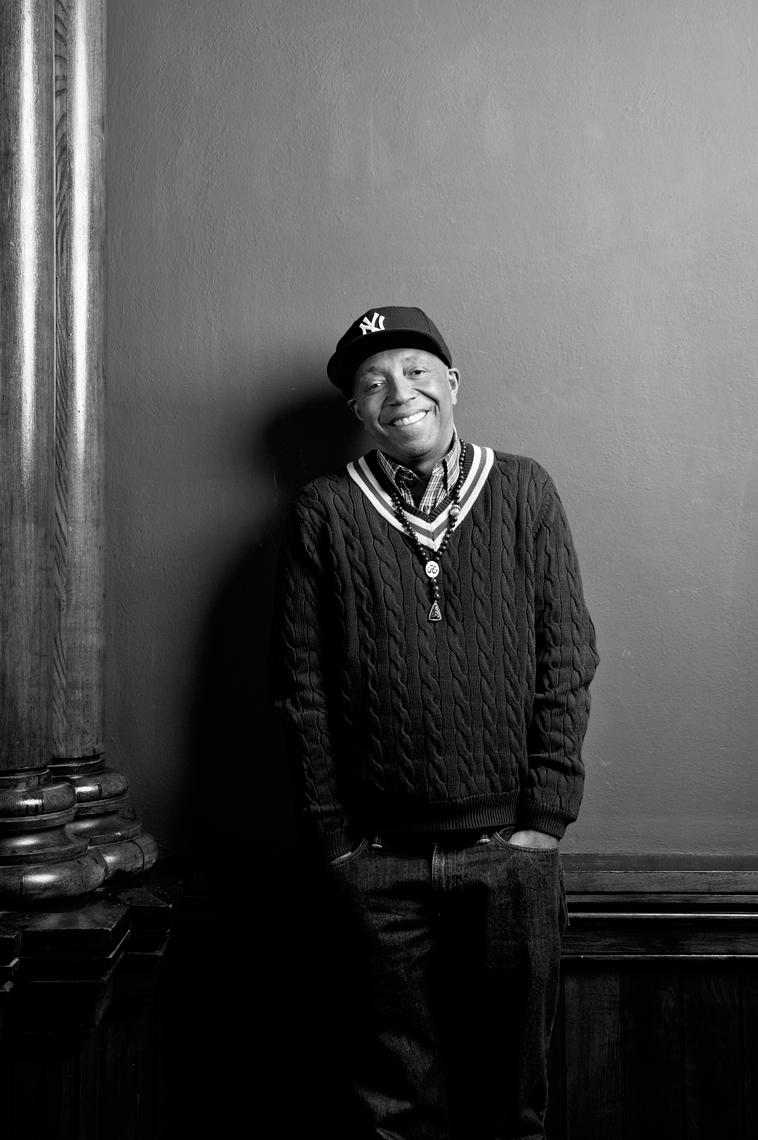 Russell Simmons photographed for Harvard Business Review Rush Communications